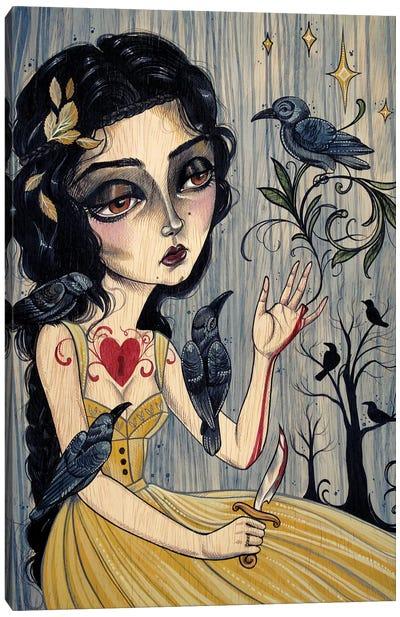 7 Ravens - Glass Cinder Thorns II Canvas Art Print