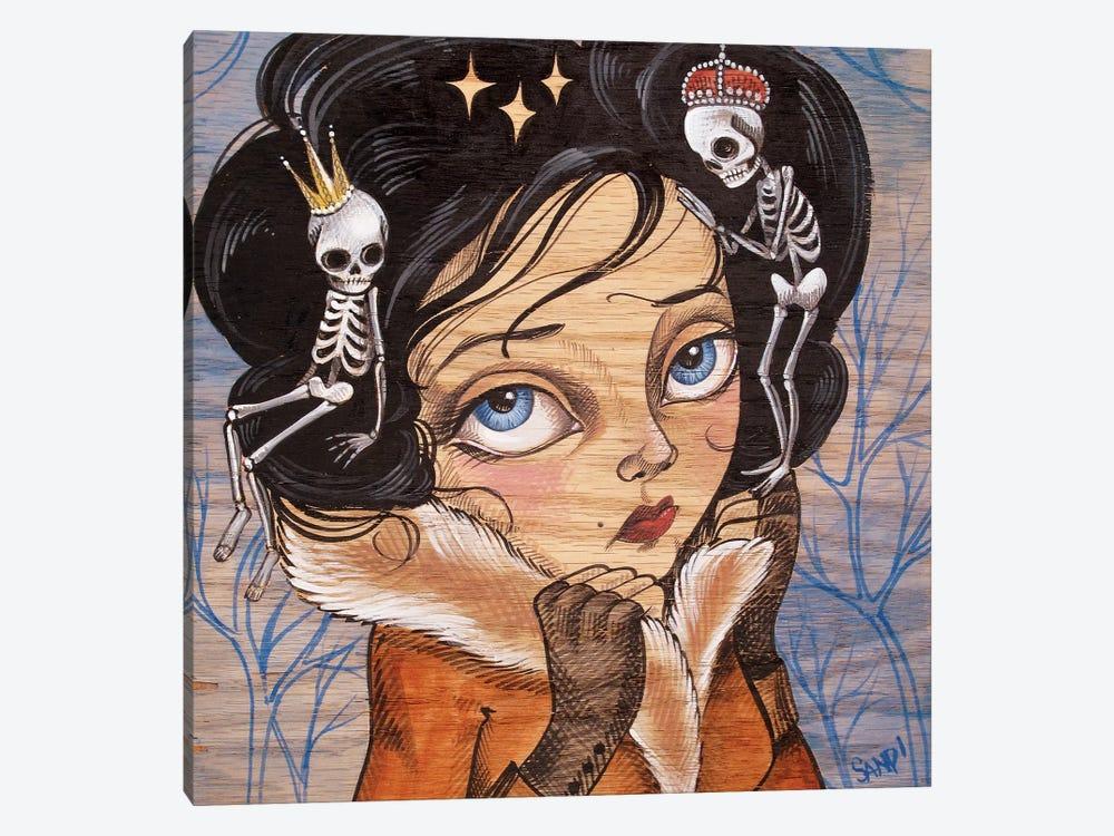 Skully Locks by Sandi Calistro 1-piece Canvas Print