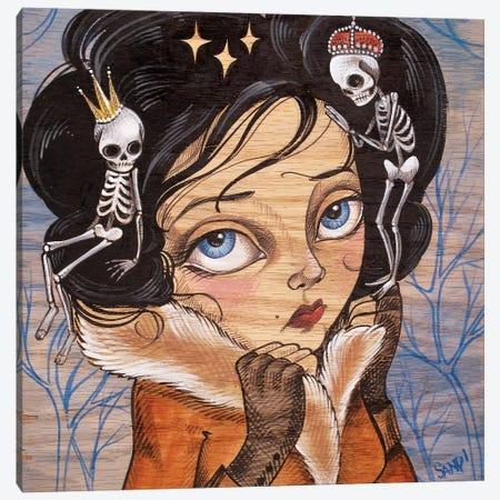Skully Locks Canvas Print #SAC45} by Sandi Calistro Canvas Art