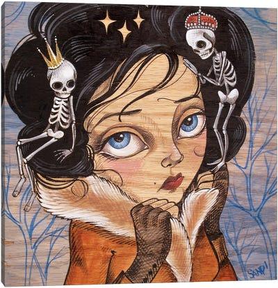 Skully Locks Canvas Art Print