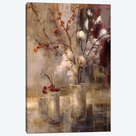 Silver Floral Canvas Print #SAD23} by Simon Addyman Canvas Art