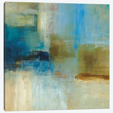 Blue Abstract Canvas Print #SAD3} by Simon Addyman Art Print