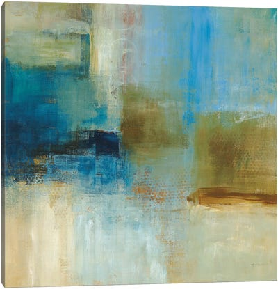 Blue Abstract Canvas Art Print
