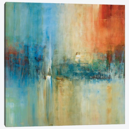 Blue Cascade Canvas Print #SAD4} by Simon Addyman Canvas Art