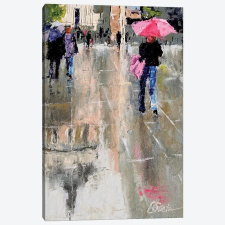 City Hall Reflections 3-Piece Canvas #SAE1} by Leslie Saeta Canvas Artwork