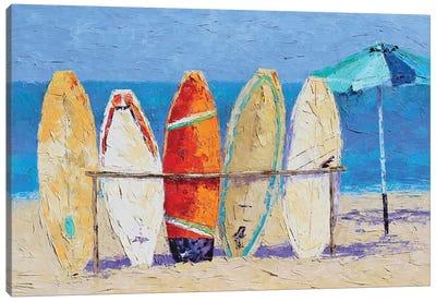 Resting On The Beach Canvas Art Print
