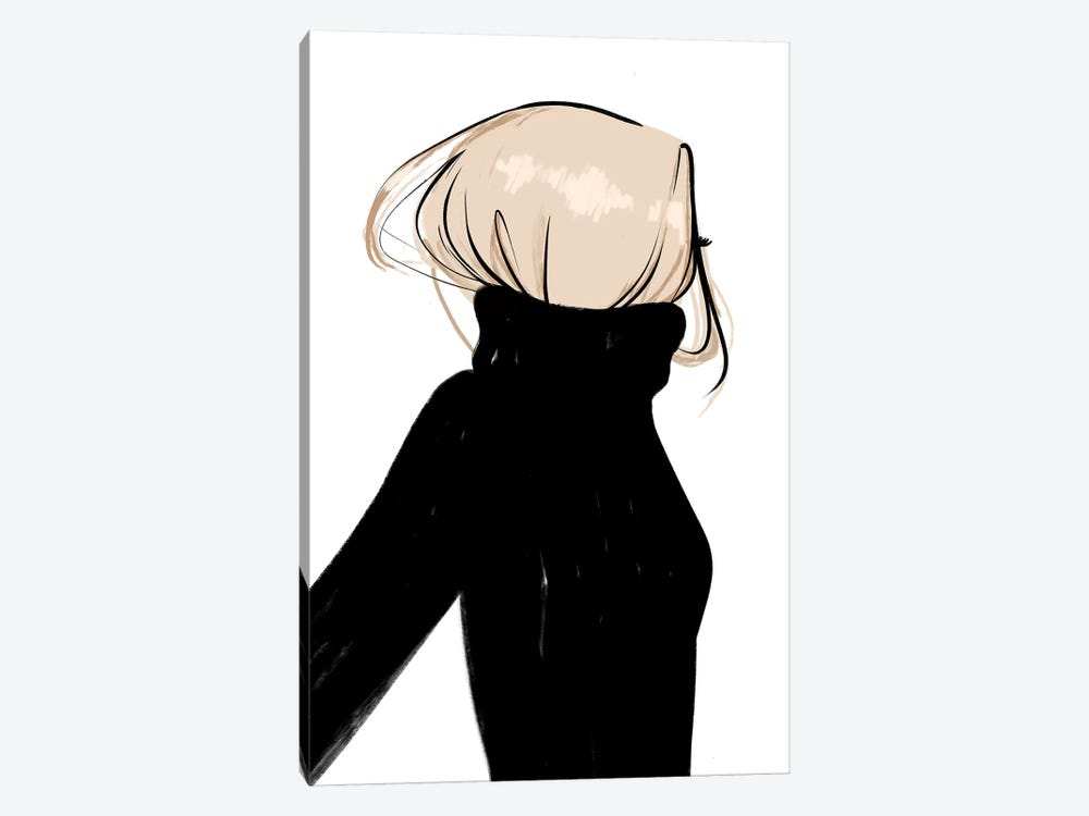 Turtleneck Messy Blonde Hair by Sabina Fenn 1-piece Canvas Art