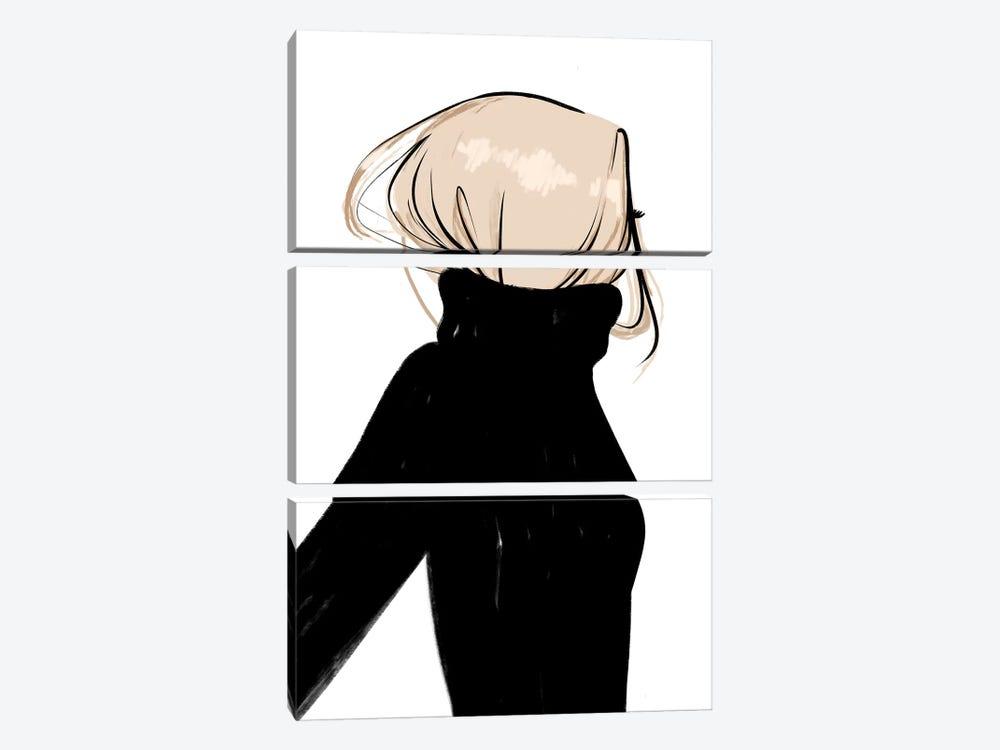 Turtleneck Messy Blonde Hair by Sabina Fenn 3-piece Canvas Artwork