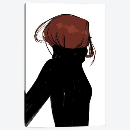 Turtleneck Messy Red Hair 3-Piece Canvas #SAF102} by Sabina Fenn Canvas Print