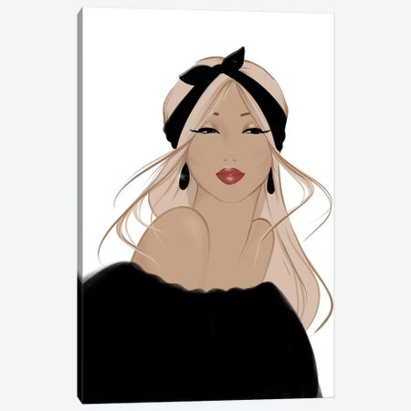 Vintage Chic Beauty Canvas Print #SAF104} by Sabina Fenn Canvas Artwork