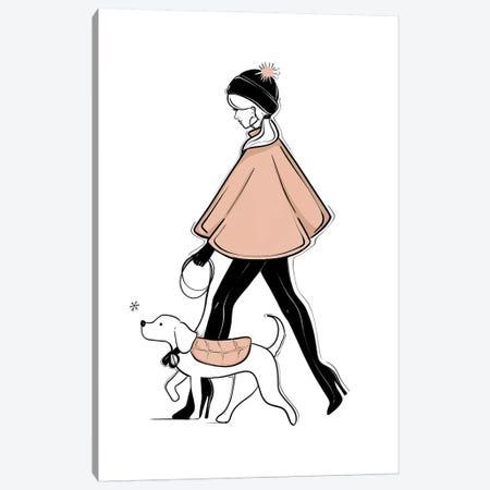 Winter Stroll Canvas Print #SAF112} by Sabina Fenn Canvas Art