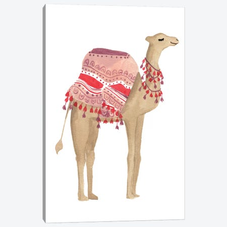 Happy Camel I Canvas Print #SAF120} by Sabina Fenn Canvas Print