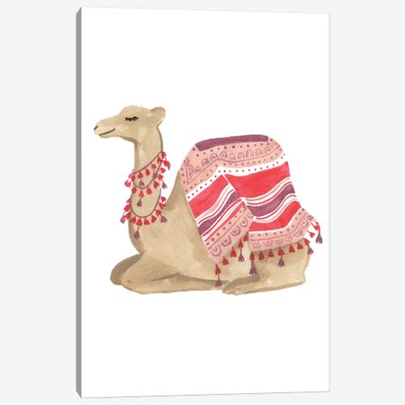 Happy Camel II Canvas Print #SAF121} by Sabina Fenn Art Print