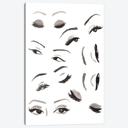 Les Yeux Canvas Print #SAF124} by Sabina Fenn Canvas Wall Art