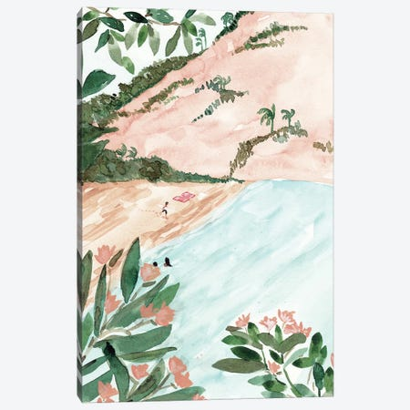 Moroccan Beach Canvas Print #SAF125} by Sabina Fenn Canvas Artwork
