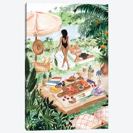 Picnic In The South Of France Canvas Print #SAF130} by Sabina Fenn Canvas Artwork