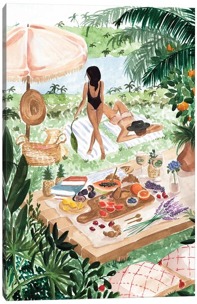 Picnic In The South Of France Canvas Art Print