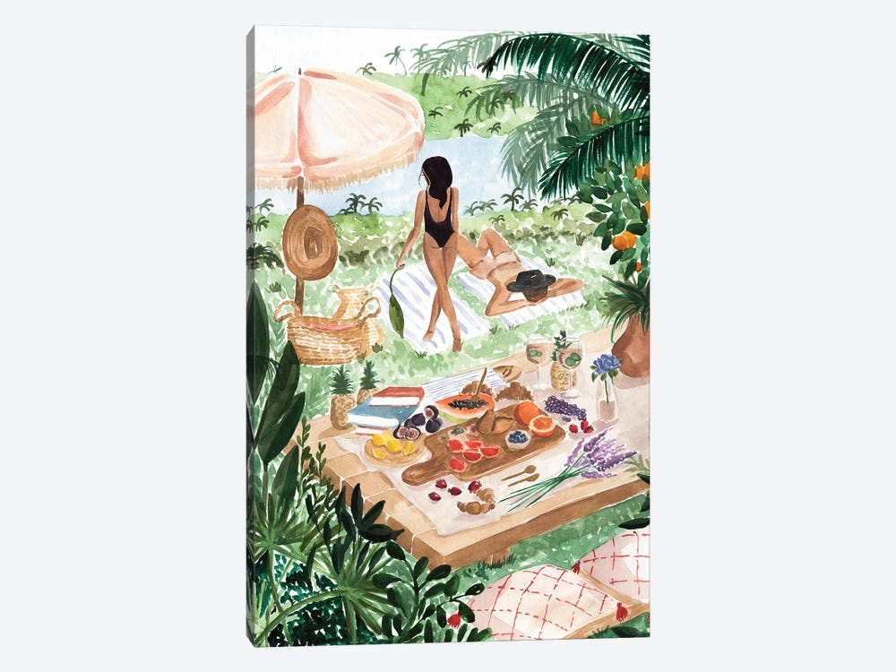 Picnic In The South Of France by Sabina Fenn 1-piece Canvas Print