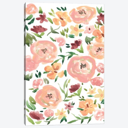 Roses 3-Piece Canvas #SAF132} by Sabina Fenn Canvas Wall Art