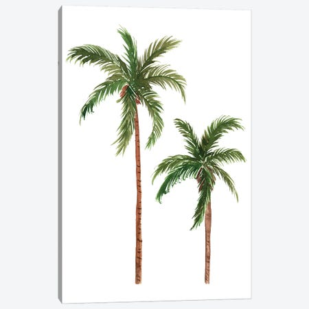 Twin Palms Canvas Print #SAF135} by Sabina Fenn Canvas Art Print
