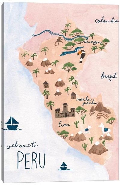Welcome To Peru Canvas Art Print