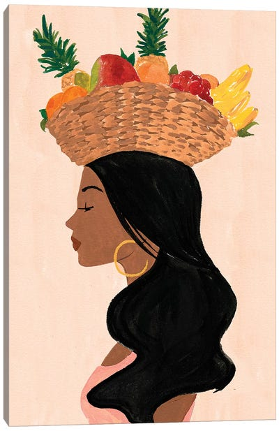 Valentina's Fruit Basket Canvas Art Print