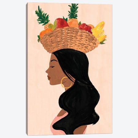 Valentina's Fruit Basket Canvas Print #SAF141} by Sabina Fenn Canvas Art Print