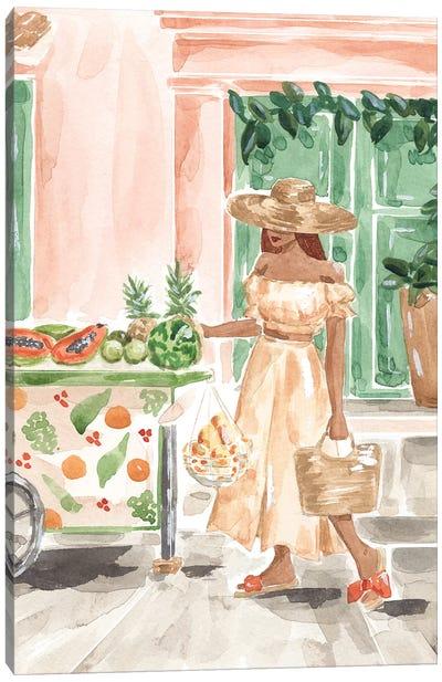 Fruit Stand Canvas Art Print
