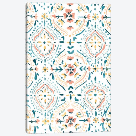 Moroccan Tiles Canvas Print #SAF156} by Sabina Fenn Canvas Art Print