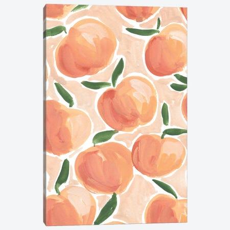 Pretty Peaches 3-Piece Canvas #SAF157} by Sabina Fenn Canvas Print