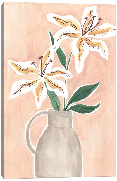 Lilies In A Vase Canvas Art Print