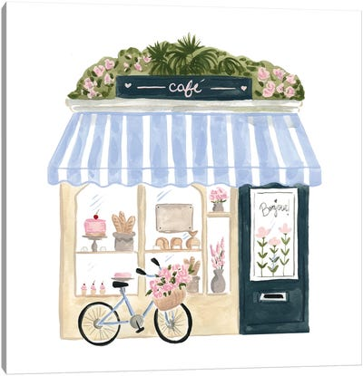 Parisian Café Canvas Art Print