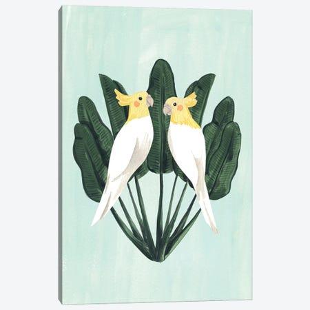 Cockatiels Canvas Print #SAF162} by Sabina Fenn Canvas Art Print