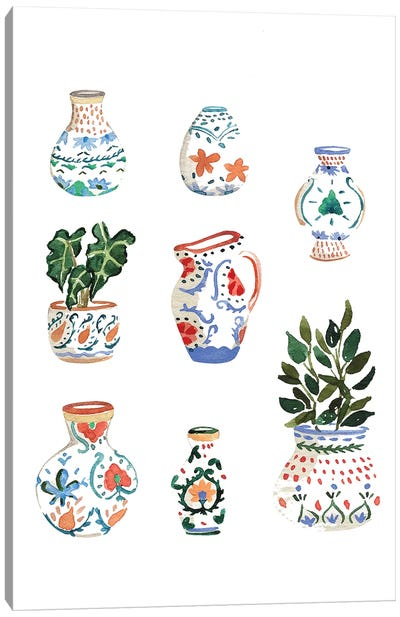 Little Pots Canvas Art Print