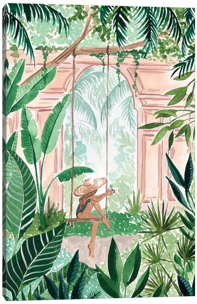 Swinging In The Jungle Canvas Art Print