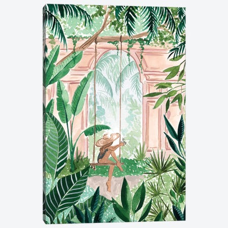 Swinging In The Jungle Canvas Print #SAF171} by Sabina Fenn Canvas Artwork