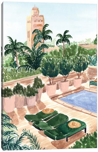 Marrakech Hotel Canvas Art Print