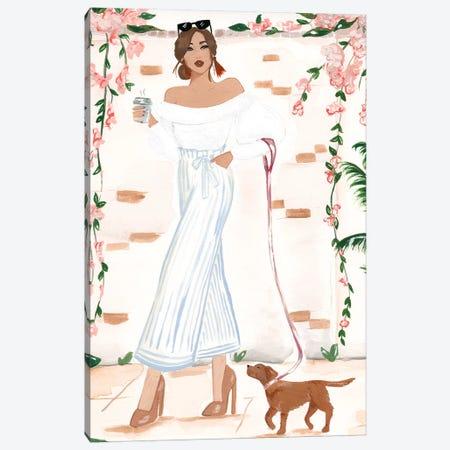 Walking The Dog Canvas Print #SAF178} by Sabina Fenn Canvas Artwork