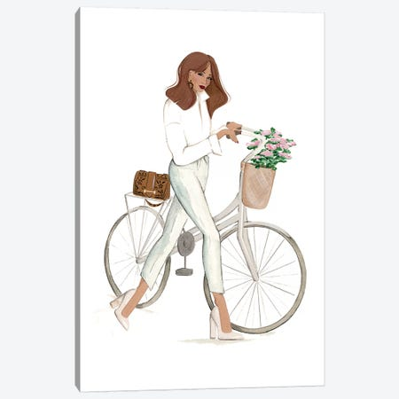 Bicyclette Canvas Print #SAF180} by Sabina Fenn Art Print