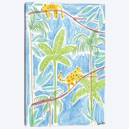 Jungle Cats For Kids Canvas Print #SAF185} by Sabina Fenn Canvas Artwork