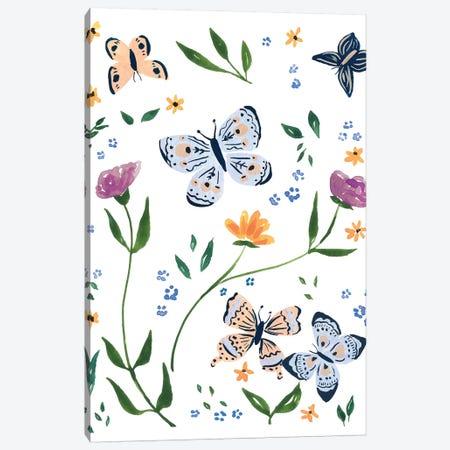 Butterflies I 3-Piece Canvas #SAF186} by Sabina Fenn Canvas Art