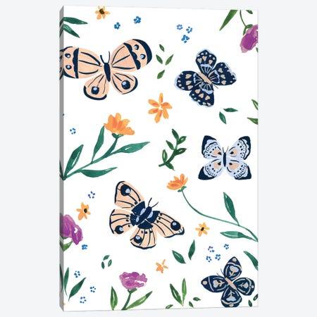 Butterflies II 3-Piece Canvas #SAF187} by Sabina Fenn Canvas Art
