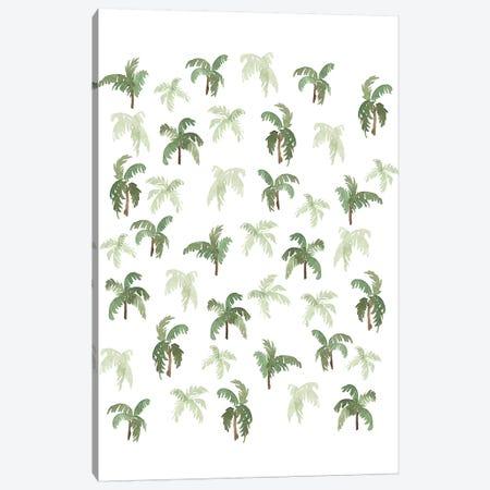 Watercolor Palms Canvas Print #SAF194} by Sabina Fenn Canvas Art Print