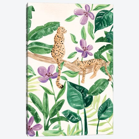Leopards In The Jungle Canvas Print #SAF202} by Sabina Fenn Canvas Art