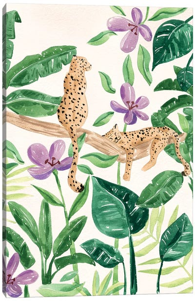 Leopards In The Jungle Canvas Art Print