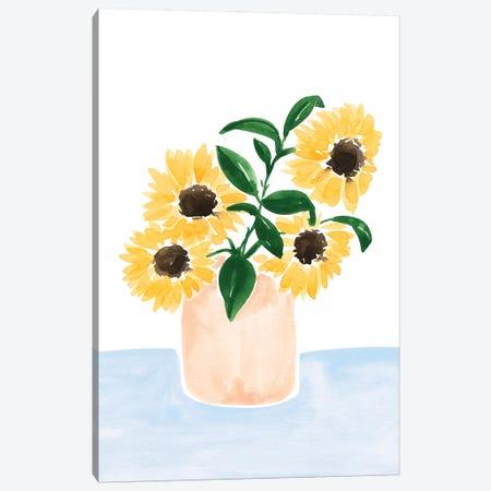 Sunflowers In A Vase Canvas Print #SAF207} by Sabina Fenn Canvas Art Print