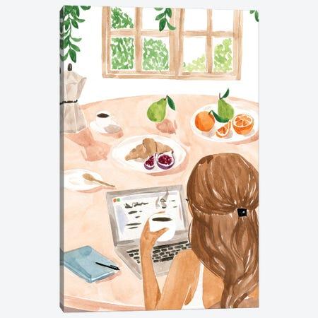 Work From Home Canvas Print #SAF215} by Sabina Fenn Canvas Artwork