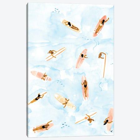 Surfers Canvas Print #SAF217} by Sabina Fenn Canvas Art