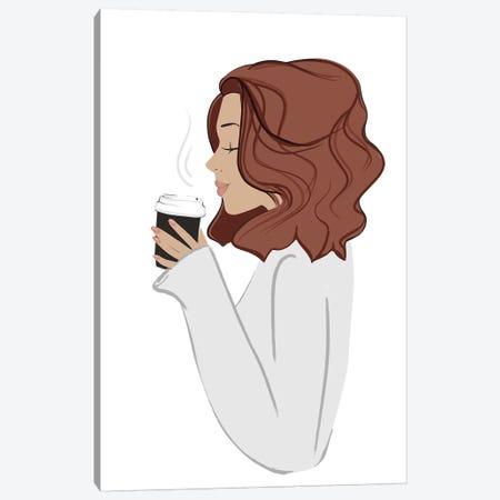 Coffee Break, Light-Skinned, Red Hair Canvas Print #SAF28} by Sabina Fenn Canvas Wall Art