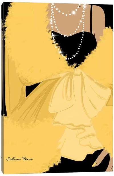 Faux Fur Jaune Canvas Art Print